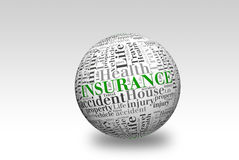 Palla di assicurazione 3d Fotografia Stock