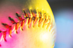 Palla di baseball, tendenza, luce rosa al neon Fotografia Stock Libera da Diritti