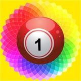 Palla di bingo sul fiore del caleidoscopio Fotografie Stock