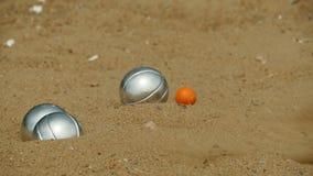 Palla di Bocce e palla della presa nella partita