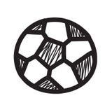 Palla di calcio di tiraggio della mano royalty illustrazione gratis