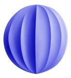 Palla di carta di Natale - blu Immagine Stock