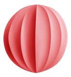 Palla di carta di Natale - rosso Immagini Stock Libere da Diritti