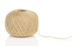 Palla di corda con l'estremità sciolta Immagine Stock