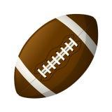 Palla di cuoio di football americano Fotografia Stock Libera da Diritti