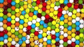 Palla di emoji di goccia di animazione stock footage
