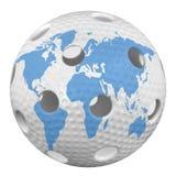 Palla di Floorball Immagine Stock Libera da Diritti