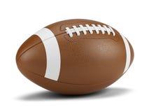 Palla di football americano contro un fondo bianco Fotografie Stock