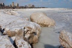 Palla di ghiaccio massiccia Fotografia Stock
