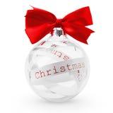 Palla di Natale Fotografia Stock