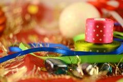 Palla di Natale, carta dell'invito del nuovo anno Immagine Stock Libera da Diritti