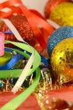 Palla di Natale, carta dell'invito del nuovo anno Fotografie Stock Libere da Diritti