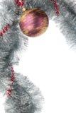 Palla di Natale con la collana Fotografia Stock Libera da Diritti