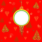 Palla di Natale con spazio per testo Fotografia Stock