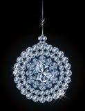 Palla di natale del diamante Fotografie Stock Libere da Diritti
