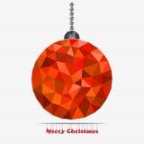 Palla di Natale fatta dei triangoli Fotografie Stock Libere da Diritti