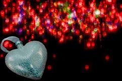Palla di Natale nella forma del cuore Immagine Stock