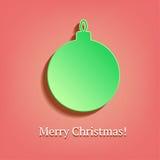 Palla di Natale nello stile d'annata Fotografia Stock Libera da Diritti