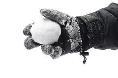 Palla di neve a disposizione Fotografia Stock