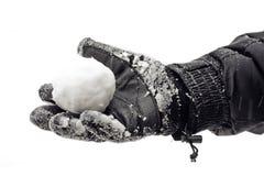 Palla di neve a disposizione Fotografia Stock Libera da Diritti