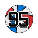 Palla di pallacanestro con il numero 95 Immagine Stock Libera da Diritti