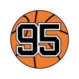 Palla di pallacanestro con il numero 95 Fotografie Stock
