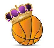 Palla di pallacanestro con una corona royalty illustrazione gratis