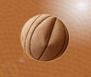 Palla di pallacanestro e fondo di struttura Fotografie Stock
