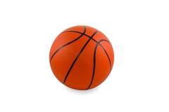 Palla di pallacanestro isolata Immagini Stock