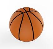 Palla di pallacanestro sopra fondo bianco 3d rendono i cilindri di image Fotografia Stock