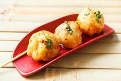 Palla di pesci fritta Fotografia Stock Libera da Diritti