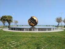Palla di Pomodoro. A famous sculpture in Pesaro Stock Photography