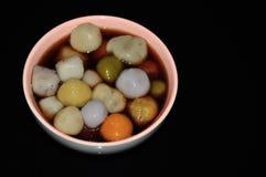 Palla di riso glutinosa variopinta Immagini Stock