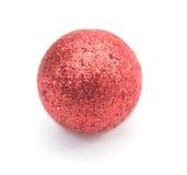 Palla di rosso di Natale Immagine Stock Libera da Diritti