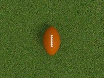 Palla di rugby su un'erba Immagini Stock