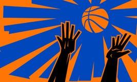 Palla di salto di pallacanestro Fotografia Stock Libera da Diritti