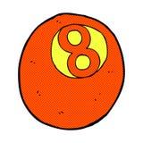 palla di stagno comica del fumetto Immagini Stock