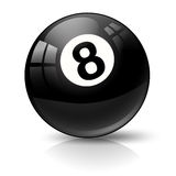 Palla di stagno dello snooker otto Immagini Stock