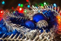 Palla di vetro blu Fotografia Stock Libera da Diritti