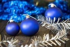Palla di vetro blu Immagine Stock Libera da Diritti