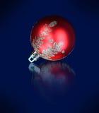 Palla di vetro di Natale Fotografia Stock