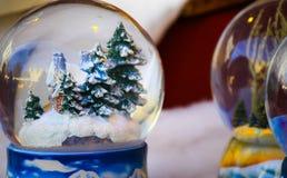 Palla di vetro di Natale Fotografie Stock