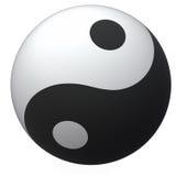 Palla di Yin-Yang Fotografie Stock