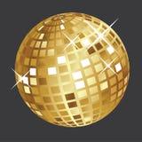 Palla dorata della discoteca Fotografia Stock Libera da Diritti