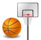 Palla e canestro di pallacanestro illustrazione vettoriale