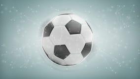 Palla e collegamento di calcio isolati su un renderi del fondo 3d Immagini Stock