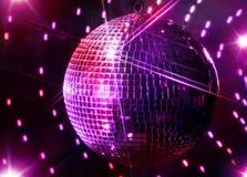 Palla e stelle dello specchio della discoteca Fotografie Stock