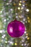Palla festiva di Natale Immagini Stock Libere da Diritti