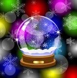 Palla festiva di vetro Fotografia Stock