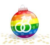Palla gay di Natale Fotografia Stock Libera da Diritti
